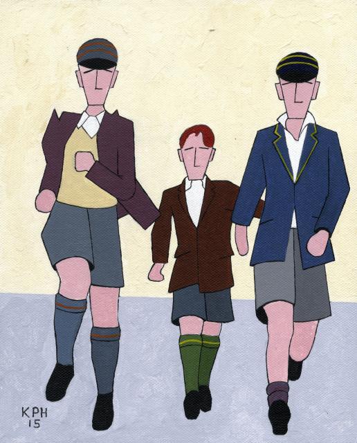 Three Lads Running